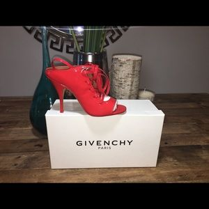 New Givenchy Patent Leather Lace-up Mules